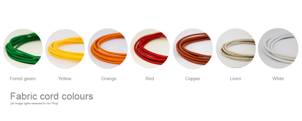 20 eight colour options fabric cord 001