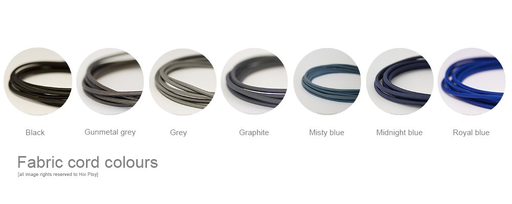 20 eight colour options fabric cord 002
